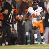 Oklahoma State\'s\' Justin Blackmon (81) scores a touchdown during a college football game between the Oklahoma State University Cowboys (OSU) and the Iowa State University Cyclones (ISU) at Jack Trice Stadium in Ames, Iowa, Friday, Nov. 18, 2011. Photo by Bryan Terry, The Oklahoman