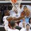 Miami\'s Dwyane Wade (3) takes a shot during Game 3 of the NBA Finals between the Oklahoma City Thunder and the Miami Heat at American Airlines Arena, Sunday, June 17, 2012. Photo by Bryan Terry, The Oklahoman