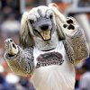 COLLEGE BASKETBALL, MASCOTS, SAINT MARY\'S: Southern Illinois University mascot plays to the crowd during a timeout against St. Mary\'s in the first round of the NCAA Tournament at the Ford Center in Oklahoma City, Friday, March 18, 2005. By Bryan Terry/The Oklahoman.