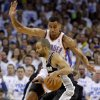 Oklahoma City\'s Thabo Sefolosha (2) defends San Antonio\'s Tony Parker (9) during Game 4 of the Western Conference Finals between the Oklahoma City Thunder and the San Antonio Spurs in the NBA playoffs at the Chesapeake Energy Arena in Oklahoma City, Saturday, June 2, 2012. Photo by Bryan Terry, The Oklahoman