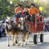 OSU fans ride in a wagon in the Oklahoma State Cowboy\'s homecoming parade in downtown Stillwater, OK, Saturday, Oct. 29, 2011. By Paul Hellstern, The Oklahoman