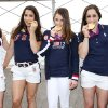 Photo -   This image released by Starpix shows the gold medal-winning US Women's Gymnastics Team, from left, Kyla Ross, Aly Raisman, McKayla Marone, Jordyn Wieber and Gabby Douglas pose on the observation deck of the Empire State Building, Tuesday, Aug. 14, 2012 in New York. (AP Photo/Starpix, Kristina Bumphrey)