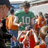 Oklahoma State\'s Clint Chelf signs autographs after OSU\'s spring football game at Boone Pickens Stadium in Stillwater, Okla., Sat., April 20, 2013. Photo by Bryan Terry, The Oklahoman