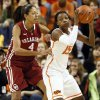 Oklahoma State\'s Toni Young (15) works against Oklahoma\'s Nicole Griffin (4) during the Bedlam women\'s college basketball game between Oklahoma State University and the University of Oklahoma at Gallagher-Iba Arena in Stillwater, Okla., Saturday, Feb. 23, 2013. OSU beat OU, 83-62. Photo by Nate Billings, The Oklahoman