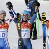 Men\'s giant slalom winners, from left, France\'s Steve Missillier (silver), United States\' Ted Ligety (gold) and France\'s Alexis Pinturault (bronze) pose for photographers at the Sochi 2014 Winter Olympics, Wednesday, Feb. 19, 2014, in Krasnaya Polyana, Russia. (AP Photo/Christophe Ena)