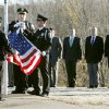Cadets stand at attention as the flag is raised during the Edmond Police Department\'s opening ceremonies for the second police academy at the Edmond Police Dept. Firing Range in Edmond, OK, Monday, Nov. 28, 2011. By Paul Hellstern, The Oklahoman