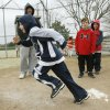 6-year-old Cooper Peterson takes off from home plate, as Edmond All Sports puts on a baseball camp at Hafer Park in Edmond, OK, Saturday, March 15, 2008. BY PAUL HELLSTERN, THE OKLAHOMAN