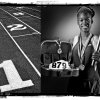 SECOND PLACE, PHOTO PACKAGE: Northeast Academy High School\'s Takoya Simpkins track player of the year Spring sports honor roll shot in the OPUBCO studio on Thursday, May 22, 2008, in Oklahoma City, Okla. staff photo Illustration by CHRIS LANDSBERGER