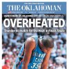 The Oklahoman, June 22, 2012, after the Thunder\'s Game 5 loss to the Miami Heat in the NBA Finals.