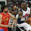 United States\' Kobe Bryant tries to drive on Spain\'s Sergio Llull during the men\'s gold medal basketball game at the 2012 Summer Olympics, Sunday, Aug. 12, 2012, in London. (AP Photo/Charles Krupa)