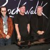 FILE - This Nov. 20, 2012 file photo shows members of the band Rush, from left, Geddy Lee, Neil Peart, and Alex Lifeson at the RockWalk induction of Rush at Guitar Center in Los Angeles. The eclectic group of rockers Rush and Heart, rappers Public Enemy, songwriter Randy Newman,