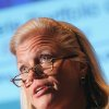 Photo -   FILE - In this Feb. 16, 2006 file photo, Virginia Rometty, at the time an IBM senior vice president, speaks in New York. The appointment of Rometty this year as chief executive at IBM has revived the debate over Augusta National's all-male membership just one week before the Masters. The last four CEOs of IBM have been members of Augusta, but the club has never had a female member since it was founded in 1933. Martha Burk led an unsuccessful campaign 10 years ago for Augusta to admit a female member. (AP Photo/Dima Gavrysh, File)