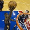 New Orleans Pelicans\' Anthony Morrow goes up for the shot with Jason Smith looking on during the third quarter of an NBA basketball game against the Philadelphia 76ers, Friday, Nov. 29, 2013, in Philadelphia. The Pelicans win 121-105. (AP Photo/Chris Szagola)