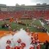 The Cowboys come onto the field during the Oklahoma State University (OSU) college football game with the University of Houston (UH) at Boone Pickens Stadium Saturday, Sept. 6, 2008 in Stillwater, Okla. BY MATT STRASEN, THE OKLAHOMAN