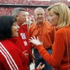 Photo - From left, Nebraska First Lady Sally Ganem and Nebraska Governor Dave Heineman talk with Oklahoma Governor Brad Henry and Oklahoma First Lady Kim Henry before the college football game between Oklahoma State University (OSU) and the University of Nebraska (NU) at Memorial Stadium in Lincoln, Neb., Saturday, October 13, 2007. By Nate Billings, The Oklahoman  ORG XMIT: KOD