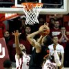 Cowboy\'s Le\'Bryan Nash (2) shots over the arms of Sooner\'s Amath M\'Baye (22) and Sooner\'s Romero Osby (24) during the second half as the University of Oklahoma Sooners (OU) defeat the Oklahoma State Cowboys (OSU) 77-68 in NCAA, men\'s college basketball at The Lloyd Noble Center on Saturday, Jan. 12, 2013 in Norman, Okla. Photo by Steve Sisney, The Oklahoman