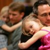 Dr. Brad Vogel (right) of Norman, and his daughter Rylee, 5, dance together during the Norman Parks and Recreation Department\'s 8th annual Daddy Daughter Dance in Norman on Sunday, Feb. 10, 2008. By John Clanton, The Oklahoman