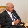 In this image released by the Egyptian Presidency, Hazem el-Beblawi meets with interim President Adly Mansour, unseen, in Cairo, Egypt, Tuesday, July 9, 2013. The spokesman of Egypt\'s interim president says a prominent economist, Hazem el-Beblawi, has been named prime minister and pro-democracy leader Mohamed ElBaradei as a vice-president. Ahmed el-Musalamani made the announcements Tuesday after days of political stalemate over the prime minister post. El-Beblawi, who is in his 70s, served as finance minister in one of the first cabinets formed after the 2011 uprising forced Hosni Mubarak from power and the military stepped in to rule. (AP Photo/Egyptian Presidency)