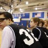 Van Hoosen\'s Owen Groesser sits on the bench during the first quarter of a middle school basketball game against Reuther, Thursday, Jan. 24, 2013, at Rochester High School in Rochester, Mich. Groesser, an eight-grader with Dwon Syndrome, made ESPN\'S SportsCenter Top 10 Plays after hitting two 3-pointers in the first game he got to play this season on Wednesday. (AP Photo/Detroit Free Press, Andre J. Jackson) DETROIT NEWS OUT; NO SALES; MAGS OUT; MANDATORY CREDIT