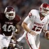 OU\'s Landry Jones runs away from Texas A&M\'s Von Miller during the college football game between the University of Oklahoma (OU) and Texas A&M University at Kyle Field in College Station, Texas, on Saturday, Nov. 6, 2010. Photo by Bryan Terry, The Oklahoman