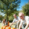 Animal caretakers Ken Hovey, Andy Reeves & Casey Wieczorek wrangle a pumpkin rattlesnake at the Oklahoma City Zoo - just in time for Haunt the Zoo for Halloween! Community Photo By: Tara Henson Submitted By: Tara, Oklahoma City