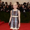"""Michelle Williams attends The Metropolitan Museum of Art\'s Costume Institute benefit gala celebrating """"Charles James: Beyond Fashion"""" on Monday, May 5, 2014, in New York. (Photo by Evan Agostini/Invision/AP)"""