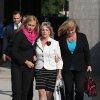 Photo - Former First Lady Maureen McDonnell, center, leaves the federal courthouse after testifying on the third day of the corruption trial, Wednesday, July 30, 2014 in Richmond, Va. (AP Photo/Richmond Times-Dispatch, Daniel Sangjib Min)