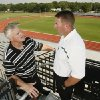Norman High School head football coach Butch Peters and Norman North head football coach Lance Manning anticipate improvements to Harve Collins Field in Norman, Oklahoma on Tuesday, July 17, 2007. BY STEVE SISNEY, THE OKLAHOMAN