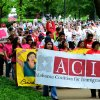 Supporters of immigration reform march at Linn Park in Birmingham, Ala., Wednesday, May 1, 2013. (AP Photo/AL.com, Mark Almond) MAGS OUT
