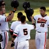 Oklahoma State\'s Tanner Krietemeier (16) celebrates after a three-run home run during OSU\'s game against Alcorn State University in Stillwater, Tuesday, Feb. 18, 2014. Photo by Bryan Terry, The Oklahoman