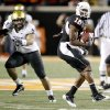 OSU\'s Perrish Cox returns a punt for a touchdown during the college football game between Oklahoma State University (OSU) and the University of Colorado (CU) at Boone Pickens Stadium in Stillwater, Okla., Thursday, Nov. 19, 2009. Photo by Bryan Terry, The Oklahoman