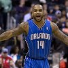 Orlando Magic\'s Jameer Nelson (14) reacts after scoring against the Washington Wizards during the first quarter of an NBA basketball game at the Verizon Center in Washington, Friday, Dec. 28, 2012. (AP Photo/Jacquelyn Martin)