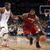 Miami\'s LeBron James (6) drives past Oklahoma City\'s Kevin Durant (35) during the NBA basketball game between the Miami Heat and the Oklahoma City Thunder at Chesapeake Energy Arena in Oklahoma City, Sunday, March 25, 2012. Photo by Sarah Phipps The Oklahoman