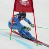 Photo - Slovenia's Tina Maze passes a gate in the second run of the women's giant slalom to win the gold medal at the Sochi 2014 Winter Olympics, Tuesday, Feb. 18, 2014, in Krasnaya Polyana, Russia.(AP Photo/Alessandro Trovati)