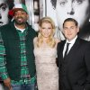 Method Man, left, Ari Graynor, center, and Jonah Hill pose at the premiere of their film,