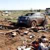 Damage is pictured at the Hideaway mobile home park, Sunday, April 15, 2012. A tornado struck Woodward early Sunday morning. Photo by Sarah Phipps, The Oklahoman.