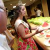 2009 Watermelon Queen, Stacy Funk, of Rush Springs, serves watermelons to visitors and employees at the state Capitol in Oklahoma City on Wednesday, July 29, 2009. By John Clanton, The Oklahoman