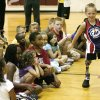 7-year-old Cody McCasland, Colleyville, Texas, showing children how he runs while speaking at the Tinker Area YMCA in Midwest City Monday, August 10, 2009. Photo by Paul B. Southerland, The Oklahoman