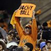 Photo -   San Francisco Giants fans cheer during the eighth inning of Game 7 of baseball's National League championship series against the St. Louis Cardinals Monday, Oct. 22, 2012, in San Francisco. (AP Photo/Mark Humphrey)