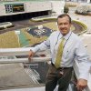 Remington Park President and General Manager Scott Wells stands on a balcony above the paddock area at Remongton Park racetrack in Oklahoma City, OK, Friday, March 6, 2009. BY PAUL HELLSTERN, THE OKLAHOMAN