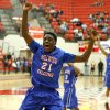 Millwood\'s Jamal Green-Gaskins celebrates Millwood\'s win in a Class 3A boys state basketball tournament game between Hugo and Millwood at Yukon High School in Yukon, Okla., Thursday, March 7, 2013. Photo by Bryan Terry, The Oklahoman