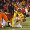 Iowa State\'s Jeff Woody (32) scores the game-winning touchdown in the second overtime of a college football game between the Oklahoma State University Cowboys (OSU) and the Iowa State University Cyclones (ISU) at Jack Trice Stadium in Ames, Iowa, Friday, Nov. 18, 2011. Photo by Bryan Terry, The Oklahoman