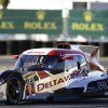 Photo - Katherine Legge, of England, drives the DeltaWing DWC13 during qualifying for the IMSA Series Rolex 24 hour auto race at Daytona International Speedway in Daytona Beach, Fla., Thursday, Jan. 23, 2014. Legge qualified in the eighth position for the race. (AP Photo/John Raoux)