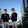 Deer Creek High School baseball players Brian Anderson (right) and Michael Fulmer pose at Deer Creek High School\'s John Hundley Field in Oklahoma City on Tuesday Feb. 22, 2011. Photo by John Clanton, The Oklahoman