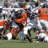 Douglass\'s Chavez Wyatt (5) runs the ball during a high school football game between Douglass and Millwood in Oklahoma City, Saturday, Sept. 8, 2012. Photo by Garett Fisbeck, The Oklahoman