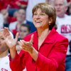 Nebraska coach Connie Yori cheers on her team in the second half against Ohio State during an NCAA college basketball game Sunday, Feb. 26, 2012, in Lincoln, Neb. Nebraska won 71-57. (AP Photo/Omaha World-Herald, Anna Reed) MAGS OUT TV OUT NEBRASKA LOCAL BROADCAST OUT