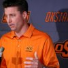 Oklahoma State head coach Mike Gundy speaks to the media during a press conference at Boone Pickens Stadium in Stillwater, Okla., on Wednesday, Feb. 4, 2009. By John Clanton, The Oklahoman