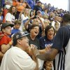 Oklahoma City\'s Kevin Durant (35) greets fans following the Oklahoma City Thunder\'s Blue and White scrimmage at Westmoore High School in Moore, Okla., Sunday, Oct. 13, 2013.
