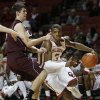 Oklahoma\'s Buddy Hield (3) drives the ball past Louisiana\'s Trent Mackey (5) during a men\'s college basketball game between the University of Oklahoma and the University of Louisiana-Monroe at the Loyd Noble Center in Norman, Okla., Sunday, Nov. 11, 2012. Photo by Garett Fisbeck, The Oklahoman
