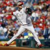 Philadelphia Phillies\' Kyle Kendrick pitches during the first inning of a baseball game against the Colorado Rockies, Monday, May 26, 2014, in Philadelphia. (AP Photo/Matt Slocum)
